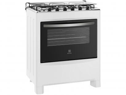 Fogão 5 Bocas Electrolux 76SBC - Acendimento Automático Ultra chama Branco