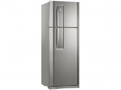Geladeira/Refrigerador Electrolux Frost Free Inox - Duplex 459L Painel Blue...