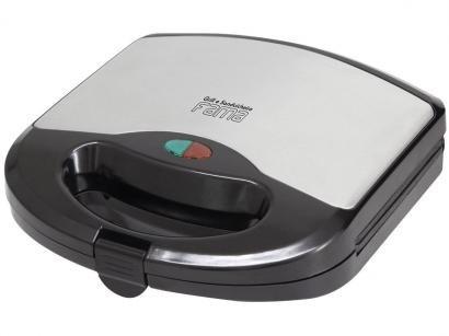 Sanduicheira Fama FGR01PI Preto e Prata 700W - Antiaderente Controle de...