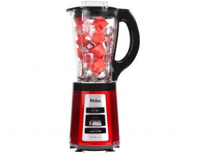 Liquidificador Philco PLQ2000 Smart Copo de Vidro - Vermelho 600W