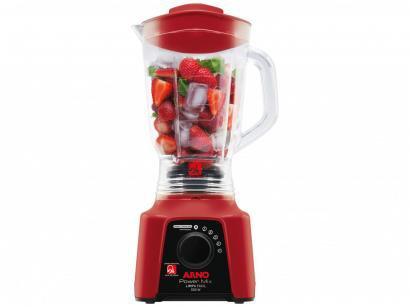 Liquidificador Arno Limpa Fácil Power Mix 2,5L - Vermelho 5 Velocidades 550W