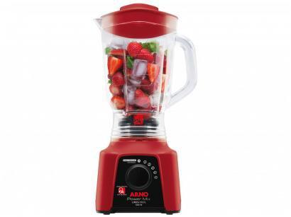 Liquidificador Arno Limpa Fácil Power Mix Vermelho - 5 Velocidades 550W