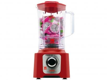 Liquidificador Arno Power Max 1400 LN56 Vermelho - 15 Velocidades 1400W