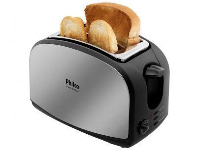 Torradeira Philco Preta French Toast - 8 Níveis de Tostagem