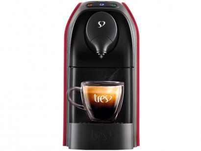 Cafeteira Espresso TRES 3 Corações Passione - 15 Bar Vermelho