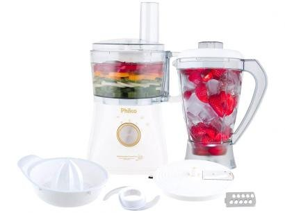 Multiprocessador de Alimentos Philco - Branco e Dourado All In One Citrus Gold...