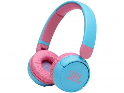 Headphone Infantil Bluetooth Wireless JBL JR310 - com Microfone Azul