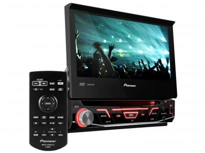 DVD Automotivo Pioneer AVH-3880DVD Tela 7 - Retrátil Touch 92 Watts RMS...