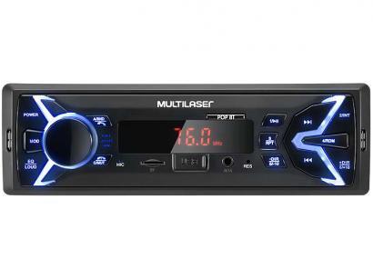 Som Automotivo Multilaser Pop BT Bluetooth - MP3 Player Rádio FM USB Micro SD...