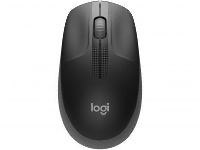Mouse sem Fio Logitech Óptico 1000DPI 3 Botões - M190 Cinza