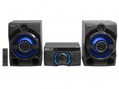 Mini System Sony Bluetooth DVD USB MP3 CD Player - Rádio FM 1600W 2 Caixas...