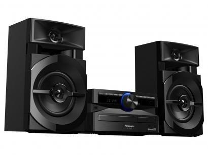 Mini System Panasonic Bluetooh USB MP3 CD Player - Rádio FM 250W 2 Caixas e...