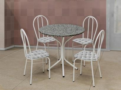 Conjunto de Mesa 4 Cadeiras Artefamol - Dalia