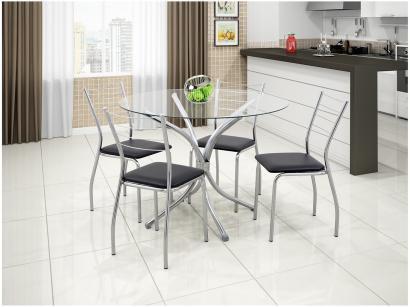 Conjunto de Mesa com 4 Cadeiras Móveis Carraro - Concept