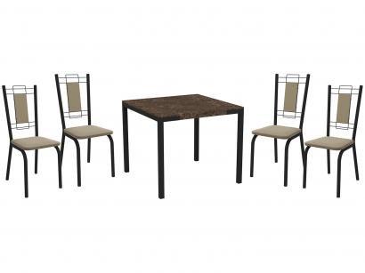 Mesa de Jantar com 6 Cadeiras Retangular - Móveis Carraro Karina