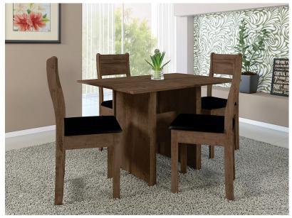 Mesa de Jantar 4 Cadeiras Retangular Indekes - Luiza