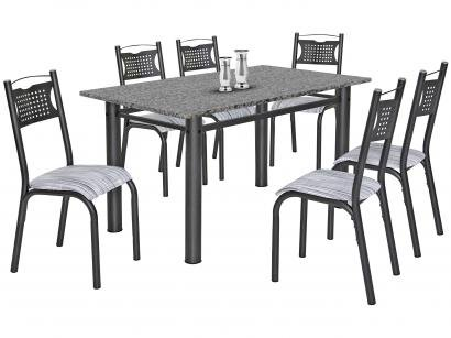 Mesa de Cozinha 6 Cadeiras Retangular Poeme - Ciplafe