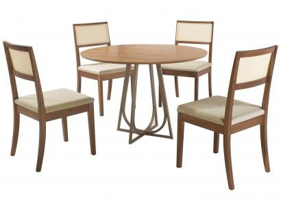 Mesa de Jantar 4 Cadeiras Redonda - Herval Goya