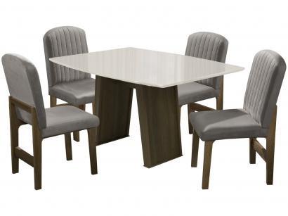 Mesa de Jantar 4 Cadeiras Retangular - Dobuê Movelaria Atenas
