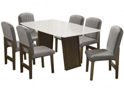 Mesa de Jantar 6 Cadeiras Retangular - Dobuê Movelaria Atenas