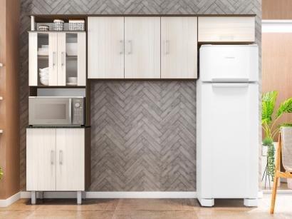 Cozinha Compacta Poliman Móveis Berna - Nicho para Forno ou Micro-ondas 8 Portas