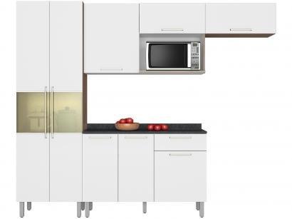 Cozinha Compacta Itatiaia Lya com Balcão - Nicho para Forno ou Micro-ondas 8...
