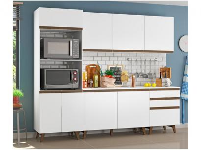 Cozinha Completa Madesa Reims com Balcão para Pia - Nicho para Micro-ondas 8...