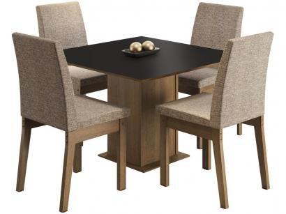 Mesa de Jantar 4 Cadeiras Quadrada Madesa - Cris MDJA0400297KFEN