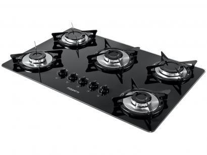 Cooktop 5 Bocas Fogatti V500X à Gás GLP - Acendimento Automático