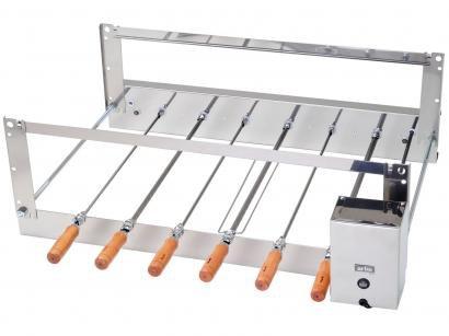 Churrasqueira Elétrica Arke 14 Desmontável - com 6 Espetos