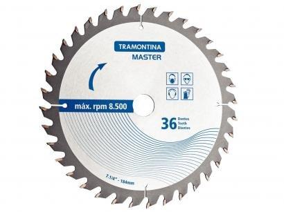 """Disco de Corte p/ Serra Circular 36 Dentes - 7.1/4"""" Blister 1 Peça Tramontina - 42580136"""