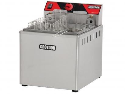 Fritadeira Elétrica Industrial Croydon FAM52 - 25L Inox Água e Óleo com 2 Cestos
