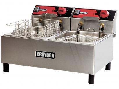 Fritadeira Elétrica Industrial Croydon FC2B-2 - 4,5L Inox com 2 Cestos