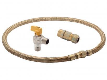 Kit Instalação para gás GN e GLP Electrolux - C/ Registro p/ Fogão, Forno de...