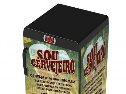 Cervejeira/Expositor Vertical Venax 100L - Sou Cervejeiro 1 Porta