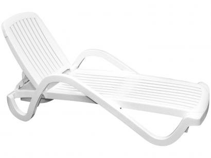 Espreguiçadeira de Plástico Branca 2 Posições - Tramontina Basic Copacabana