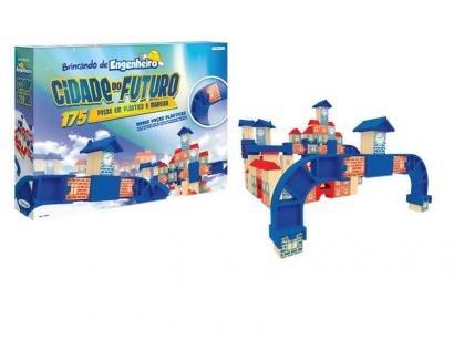 Jogo Brincando de Engenheiro Cidade do Futuro - 175 Peças Xalingo