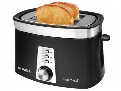 Tostador Mondial Max Toast - 7 Níveis de Tostagem e Função Descongelar