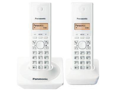Telefone Sem Fio Panasonic KX-TG1712LBW + 1 Ramal - Identificador de Chamada...