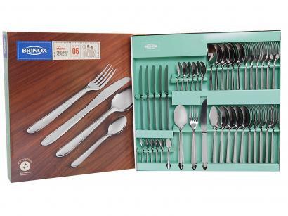 Faqueiro Brinox Siena 5109/120 Inox - 42 Peças