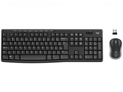 Kit Teclado e Mouse Sem Fio Wireless - Logitech MK270