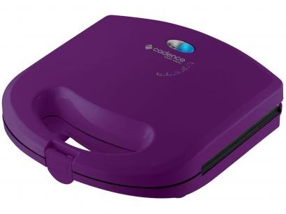 Sanduicheira/Mini Grill Cadence Easy Meal Color - 750W Antiaderente Roxa