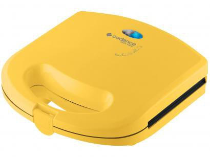 Sanduicheira/Mini Grill Cadence Easy Meal Color - 750W Antiaderente Amarelo