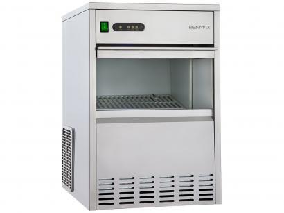Máquina de Gelo BenMax Super Ice Produção até 26kg - Armazenamento até 7kg Inox
