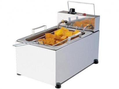 Fritadeira Elétrica Industrial Progás - New Queen Style PR-10E 5L Inox com 1...