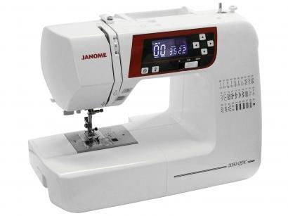 Máquina de Costura Janome 2030QDC Eletrônica - 30 Pontos Mesa Extensora...