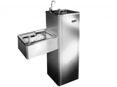 Bebedouro de Coluna Refrigerado por Compressor - Inox - Masterfrio MFA40