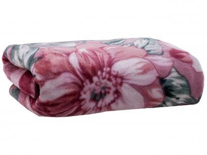Cobertor Casal Dyuri Poliéster Melville - Vinho