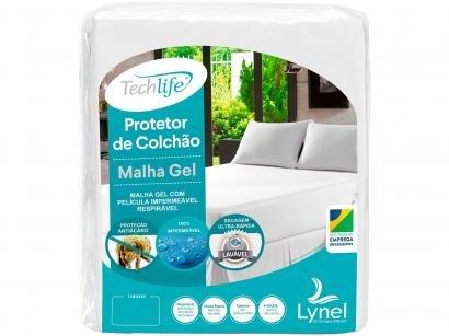 Protetor de Colchão Queen Size Impermeável - Malha Gel 25x2cm Branco Lynel Techlife