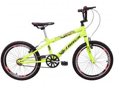 Bicicleta Infantil Aro 20 Track Bikes Cross Noxx - Amarelo Neon Freio V-Brake